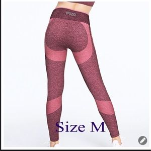 VS PINK SEAMLESS WORKOUT TIGHT LEGGING M